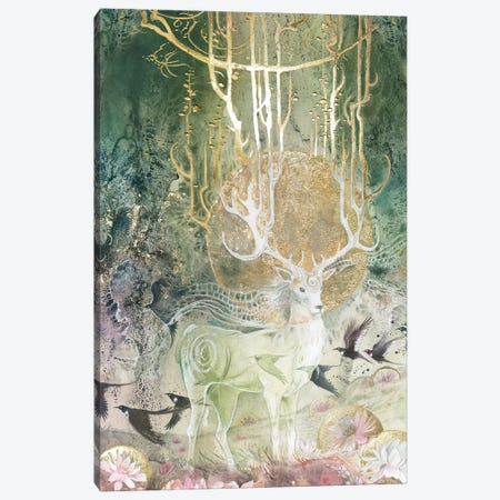 Elk Canvas Print #SLW55} by Stephanie Law Canvas Artwork