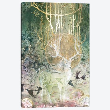 Elk Canvas Print #SLW55} by Stephanie Law Canvas Artwork