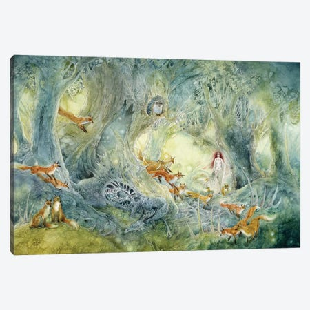 Firefly Hunters Canvas Print #SLW66} by Stephanie Law Canvas Art Print