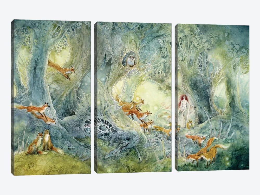Firefly Hunters by Stephanie Law 3-piece Art Print