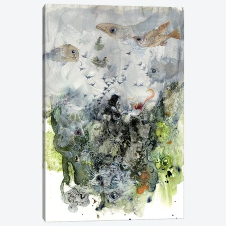 Fishy Canvas Print #SLW68} by Stephanie Law Canvas Art