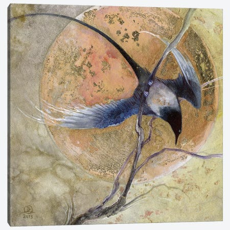 For Gold Canvas Print #SLW6} by Stephanie Law Art Print