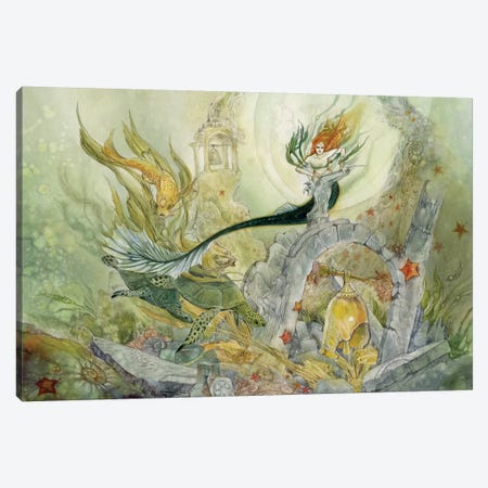 Forgotten Bells Of Ys Canvas Print #SLW72} by Stephanie Law Canvas Art Print