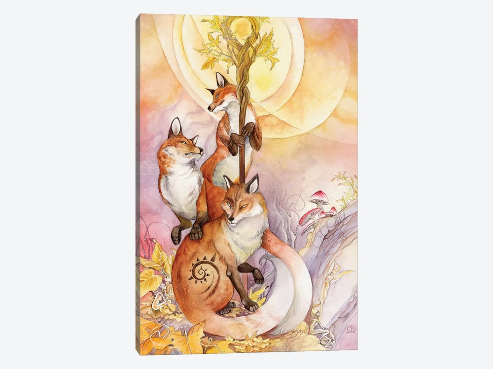 Foxes by Stephanie Law 1-piece Canvas Art