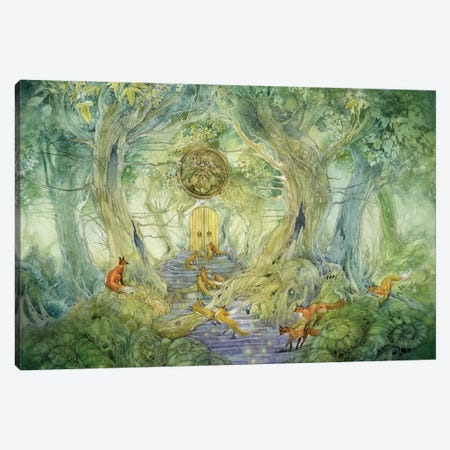 Green Gate Canvas Print #SLW79} by Stephanie Law Canvas Print