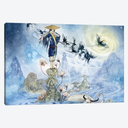 Herder Canvas Print #SLW80} by Stephanie Law Canvas Artwork