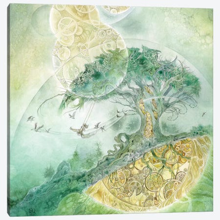 Inner Workings Canvas Print #SLW86} by Stephanie Law Art Print