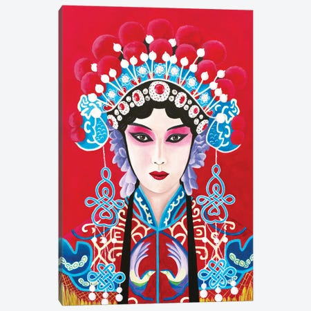 Chinese Opera Lady Canvas Print #SLY106} by Sally B Canvas Artwork