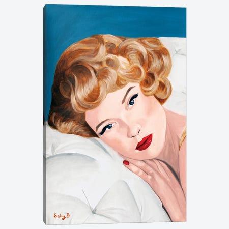 Vintage Blond Glamorous Lady Canvas Print #SLY109} by Sally B Canvas Print