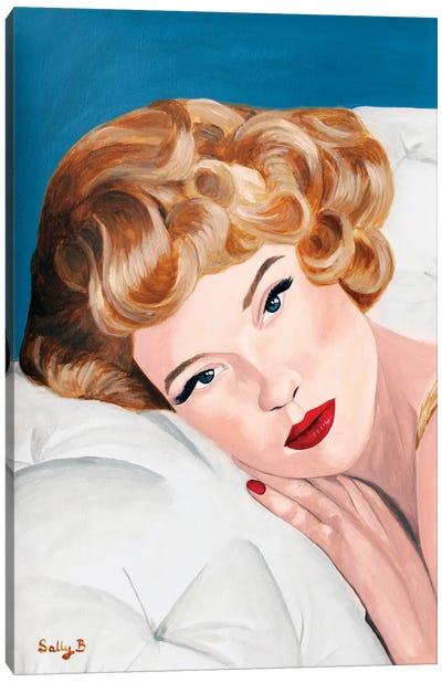 Vintage Blond Glamorous Lady Canvas Art Print