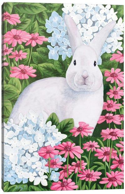 Rabbit In Garden Canvas Art Print