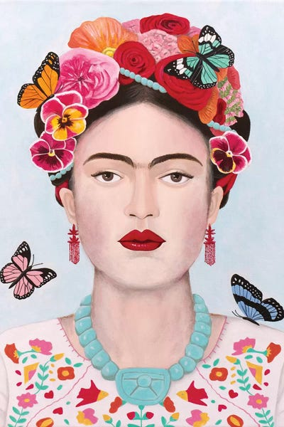 Home decor Gold frame with mat Frida Kahlo gold framed print Frida Kahlo print Framed print