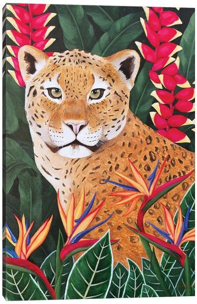 Leopard In Jungle Canvas Art Print