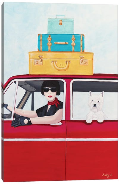 Holiday With Westie Canvas Art Print