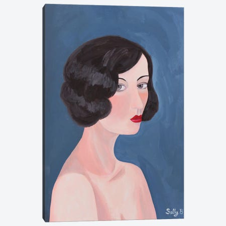 Naked Woman Canvas Print #SLY89} by Sally B Canvas Artwork