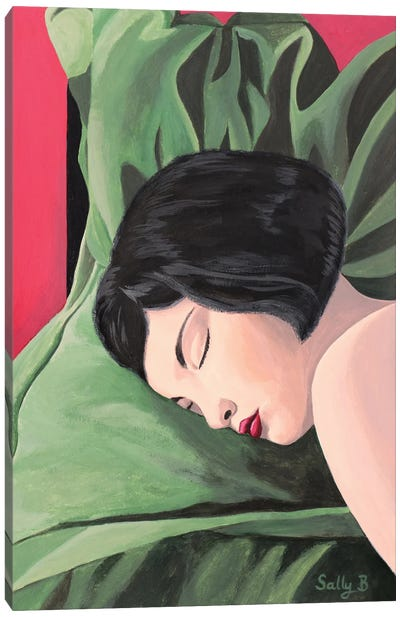 Sleeping Naked Woman Canvas Art Print