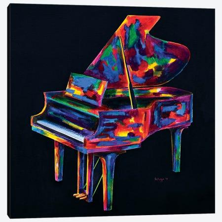 Colorful Jazz Piano Canvas Print #SLZ11} by John Salozzo Canvas Art