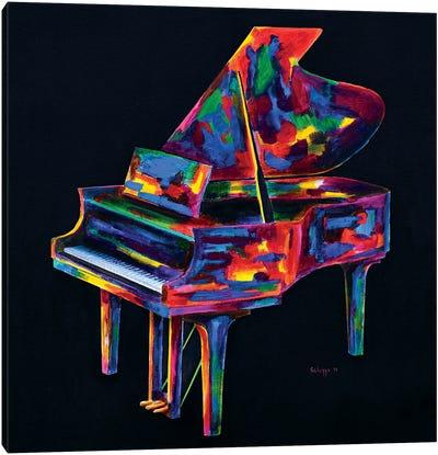 Colorful Jazz Piano Canvas Art Print