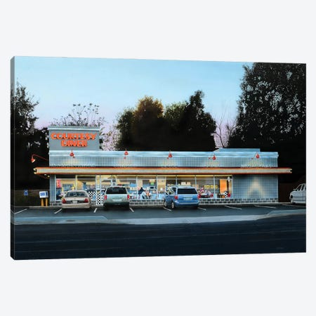 Courtesy Diner Print Canvas Print #SLZ12} by John Salozzo Canvas Wall Art