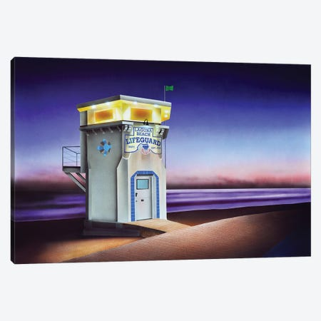 Laguna Beach Lifeguard Shack Canvas Print #SLZ22} by John Salozzo Art Print