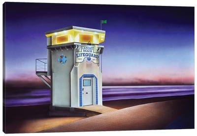 Laguna Beach Lifeguard Shack Canvas Art Print
