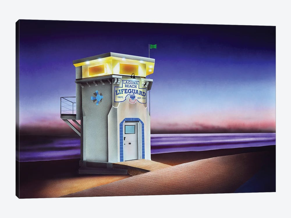 Laguna Beach Lifeguard Shack by John Salozzo 1-piece Canvas Artwork