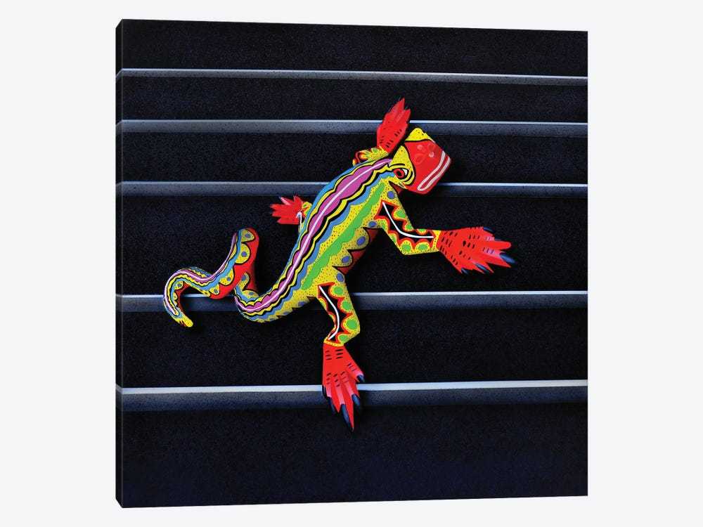 Lizard II by John Salozzo 1-piece Canvas Artwork