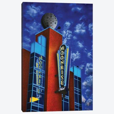 Moonrise Hotel Canvas Print #SLZ26} by John Salozzo Canvas Wall Art