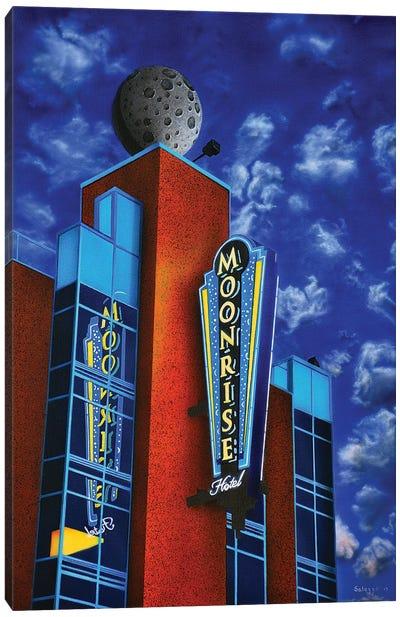 Moonrise Hotel Canvas Art Print