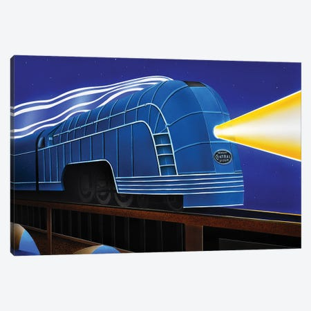 Night Train Canvas Print #SLZ27} by John Salozzo Canvas Art
