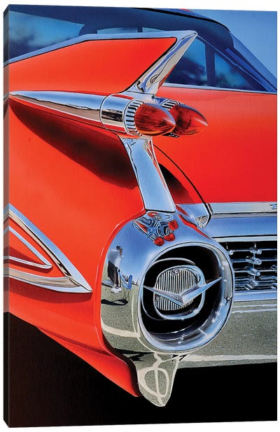 Red Caddy Canvas Art Print