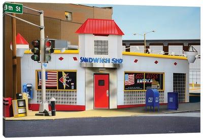 Sandwich Shop Canvas Art Print