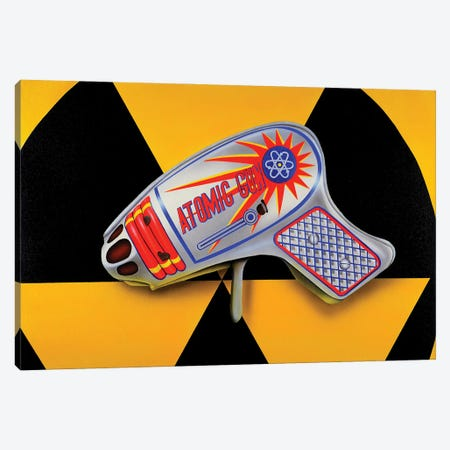 Atomic Ray Gun Canvas Print #SLZ3} by John Salozzo Canvas Print
