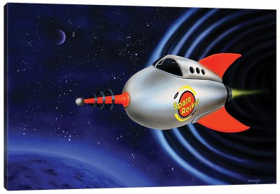 Space Rocket Canvas Art Print