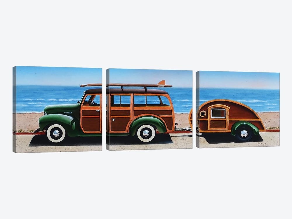 Woody by John Salozzo 3-piece Canvas Art