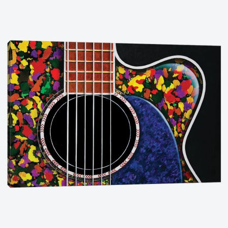 The Colorful Guitar Canvas Print #SLZ51} by John Salozzo Canvas Art