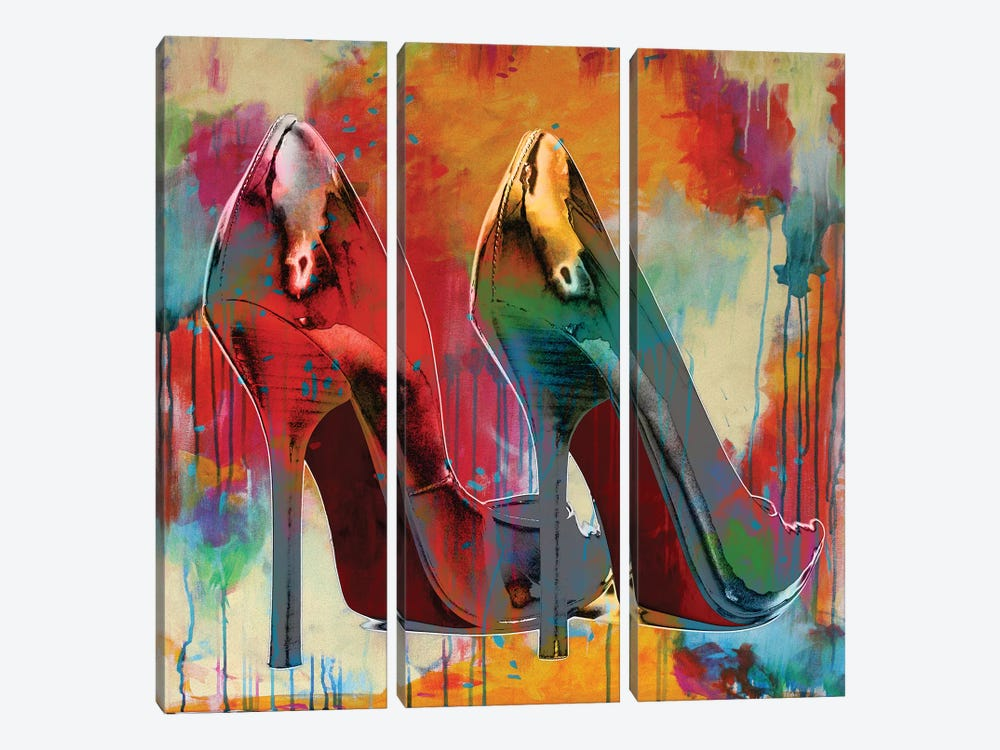 Stillettos I by Sarah McGuire 3-piece Canvas Art
