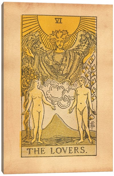The Lovers Tarot Canvas Art Print