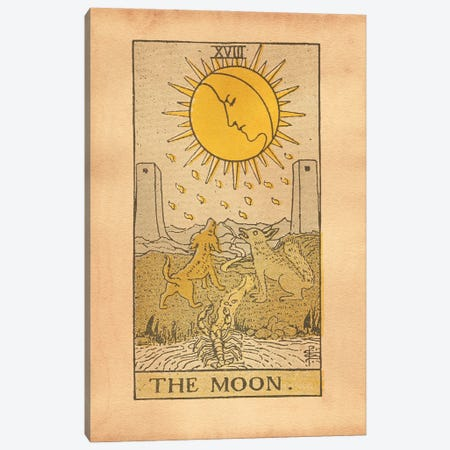 The Moon Tarot Canvas Print #SMD102} by Tea Stained Madness Art Print