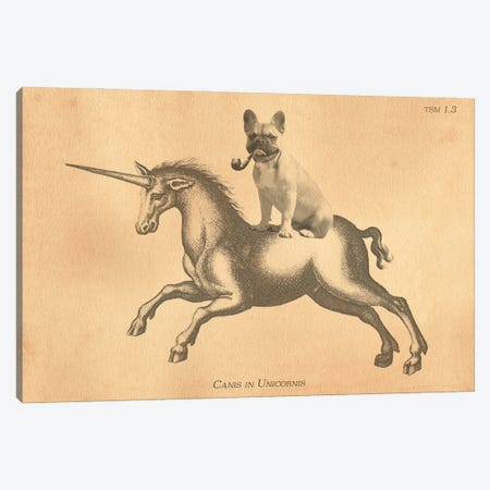 French Bulldog Unicorn Canvas Print #SMD43} by Tea Stained Madness Canvas Wall Art