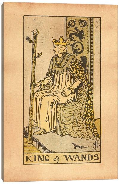 King Of Wands Tarot Canvas Art Print