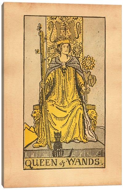 Queen Of Wands Tarot Canvas Art Print