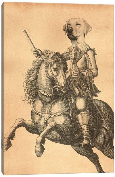 Sir Labrador Knight Canvas Art Print