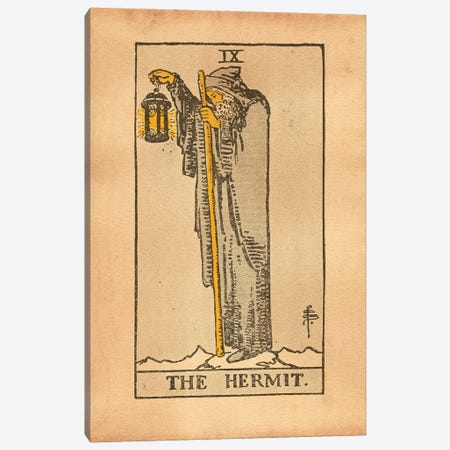 The Hermit Tarot Canvas Print #SMD98} by Tea Stained Madness Art Print