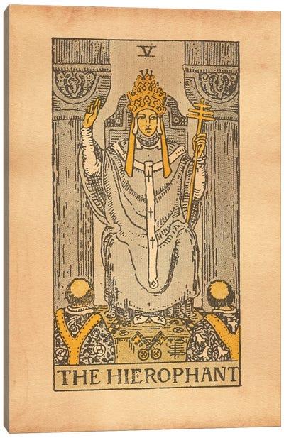 The Hierophant Tarot Canvas Art Print