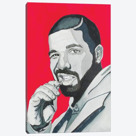 Drake Canvas Print #SMG10} by Sammy Gorin Canvas Wall Art