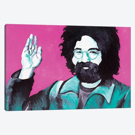 Jerry Garcia Canvas Print #SMG16} by Sammy Gorin Canvas Print