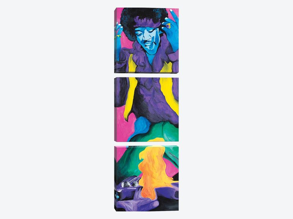 Jimi Hendrix Fire by Sammy Gorin 3-piece Canvas Artwork