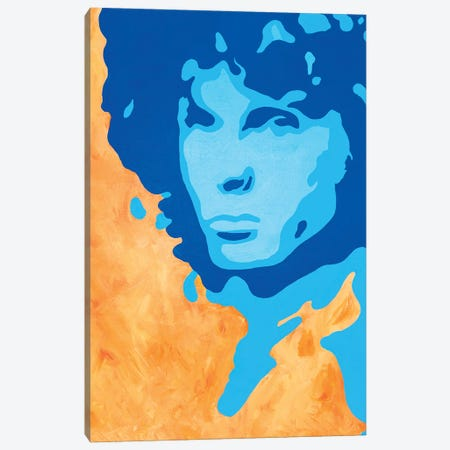 Jim Morrison Canvas Print #SMG18} by Sammy Gorin Canvas Wall Art