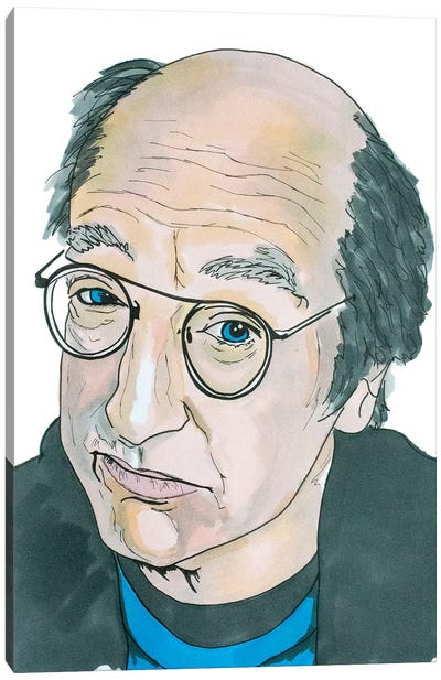 Larry David Canvas Art Print